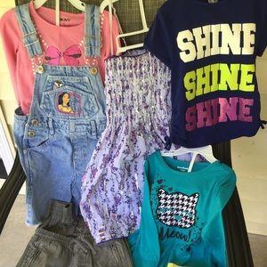 Girl's Kids Sz 4T set clothes T-Shirt Dress Pants